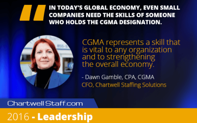 Chartwell CFO Earns CGMA Designation and Featured in 2016 CGMA Program Handbook